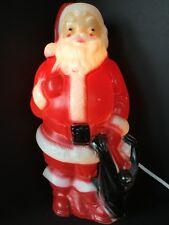 "Santa Blow Mold Christmas 13"" Tabletop Yard Decor Vintage Kitschmas 1968 Empire"