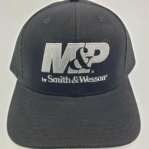M&P Smith & Wesson Black Baseball Cap Trucker Hat Mesh Adjustable Strap-back