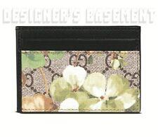 GUCCI khaki BLOOMS GG Supreme Canvas TRAIN PASS window Card Case NIB Authen $270