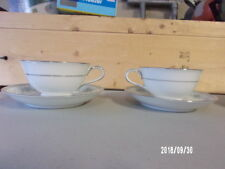 (2) Noritake Japan Colburn #6107  China Cup and Saucer
