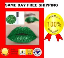 EMERALD GREEN DIAMOND MATTE LIP GLOSS EYE SHADOW GLITTER 6ML MOISTURE GLUE  FIX