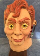 Halloween Costume GOOSEBUMPS SLAPPY THE DUMMY Latex Deluxe Mask Haunted House