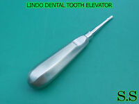 3 DENTAL TOOTH SURGERY LINDO-LEVIEN LARGE STRAIGHT BARBED EDGE ELEVATOR