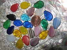 Vintage Flat Wedding Bead Trade Bead 3 pc LOT African Czech Glass assortment