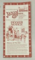 Vintage Publick House Original Vintage Restaurant Dinner Menu Chester New Jersey