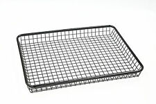 TIB90105 Black Wire Basket,124x95x12cm Steel Roof Basket,Universal Brackets