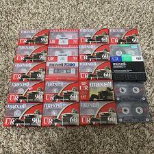 Lot of 20 Cassette Tapes Blank Maxell Sealed New UR60 UR90 C120 60 90