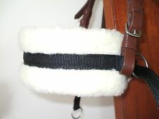 Bitless bridle attachment black cushion webbing cob/full size