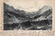 ADELBODEN MIT DEM WILDSTRUBEL TO INTERLAKEN SWITZERLAND MOUNTAINS POSTCARD 1902