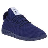 New Mens adidas Blue Pharrell Williams Tennis Hu Nylon Trainers Retro Lace Up