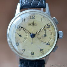 ANGELUS WW2 ERA 35MM CHROME 2 REGISTER CALIBER 215 CRAZY PATINA RADIUM NUMERALS