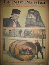 JUSTICE AFFAIRE STEINHEIL PARI TOUR DU MONDE EN TONNEAU LE PETIT PARISIEN 1909