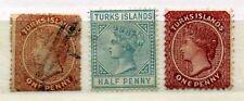 Turk - Turk  Islands - Colonie Britanniques - 1867 / 1887 - 3 timbres neufs et o