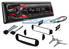 NEW KENWOOD CAR STEREO RADIO DECK W/ USB & AUX INPUTS W/ INSTALL KIT FOR VW BUG