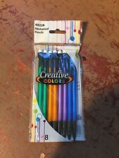 1 Pack of 8 Creative Colors Brand Erasable Mechanical Lead Pencils FREE SHI