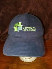 R.E.M. 2004 corporate cap Hat flexfit navy blue Embroidered green euc yupoong