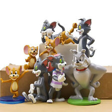 Hot Tom and Jerry Action Figures Cat Mouse Dog Animals Game Toy 9pc Set Gift New