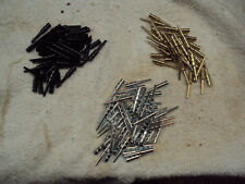 """120 FANCY Metal Cribbage Pegs for 1/8"""" holes - 3 Colors: Black, Gold, Silver"""