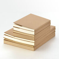 NEW Sketchbook Notebook KRAFT cover sewing case Inner Blank White/Kraft paper