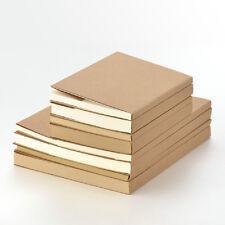 NEW Sketchbook Notebook KRAFT cover sewing case Inner Blank White/Kraft paper