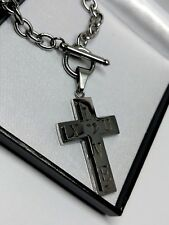 MOTHER'S DAY GIFT Women's Jesus Cross Crucifix Silver Steel Pendant Necklace