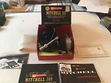 Very Good Working Vintage Garcia Mitchell 301 Left Handed Spinning Fishing Reel