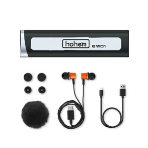 """Hohem BM01 Wireless Lavalier Microphone w"""" Wind Muff Caps for Video Vlog Record"""