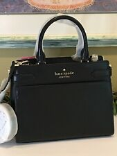 KATE SPADE STACI CAMERON MEDIUM SATCHEL SHOULDER TOTE BAG BLACK LEATHER $399