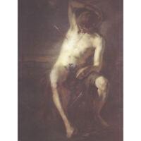 Egger-Lienz Saint Sebastian Arrow Martyr Painting XL Canvas Art Print