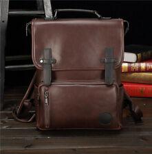 Retro Men's Leather backpack Shoulder Messenger Briefcase Laptop bag BG078