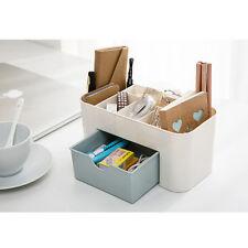 DIY Plastic Storage Box Jewelry Container Makeup Desk Organizer Case Box