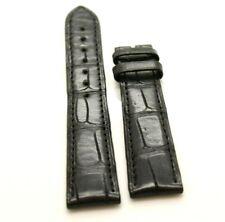 Zenith Genuine Alligator Leather Strap Black crocodile Watch Band 19 x 16 mm