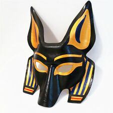 Half Face Leather Egyptian Anubis God Head Mask Cosplay Halloween Party Costume