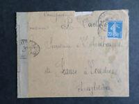 FRANCE  140  AFFRANCHISSEMENT  GRATUIT  DE  BUREAU - FRONTIERE  30 / 12 / 1917