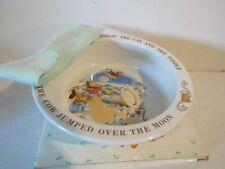 Great Vintage Avon Keepsake Children's Spoon & Bowl Set- Nursery Rhyme