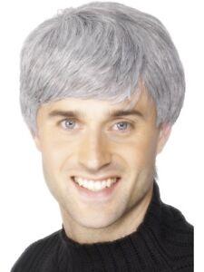 Grey Wig Mens Fancy Dress Icons & Idols Corprae Short Accessory