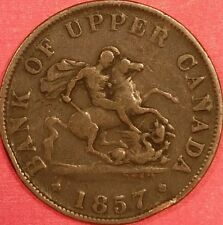 1857 Bank of Upper Canada Half Penny  ID  #88-42