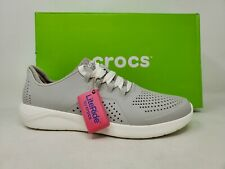 NEW! Crocs Women's LiteRide Pacer Pearl White Size 10 #205234