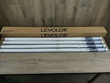 "Set of Four Levolor Blackout Roller Shade White: 55 1/4""W x 78""L (#136)"