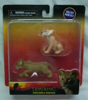 Walt Disney Lion King YOUNG SIMBA NALA LION TOY FIGURE SET NEW