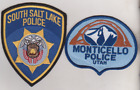 Monticello & South Salt Lake UTAH  Police patches