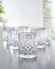 More details for set of 6 230 ml crystal glasses stunning cut tumbler cocktail whisky juice drink