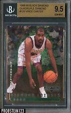 1998-99 Black Diamond Quadruple #120 Vince Carter Rookie RC 24/50 BGS 9.5 w/ 10