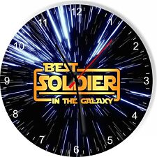 Best Soldier in the Star Galaxy Space Kitchen Living room Wall Clock