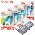 SanDisk Ultra New 8GB 16GB 32GB 64GB micro SD HC Flash Memory Card 48MB Class10