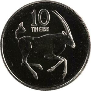 BOTSWANA - 10 THEBE - 1976 - UNC - SOUTH AFRICAN GEMSBOCK