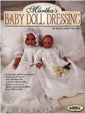 "Martha's Baby Doll Dressing Full Size Patterns 16"" & 21"" doll size 10 Garments"