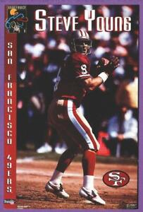 "Steve Young San Francisco 49ers 4"" x 6"" Costacos Brothers QB Club Mini Poster"
