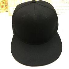 Hip Hop Adjustable Plain Snapback Hat Blank Basic SNAP BACK Baseball caps