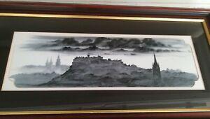 Original Landscape Watercolor By James Youngson  Edinburgh Papion